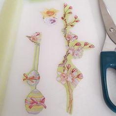 Decoupage για Λαμπάδες με χαρτοπετσέτες Decoupage, Create, Light Bulb Vase
