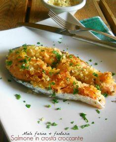 Salmone in crosta croccante