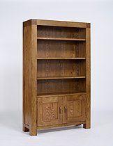 Santana Reclaimed Oak 2 Door Bookcase with 3 Adjustable Shelves £580.00