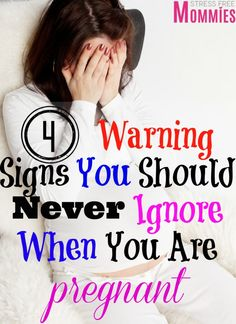 4 warning signs you should never ignore when you are pregnant - Being pregnant is an exciting period where you go through so many emotions. You never think you would have to worry about symptoms that can be life threatening to you and your baby. Here i share the 4 warning signs that you should never ignore when you are pregnant from a mom who went through it and survived!