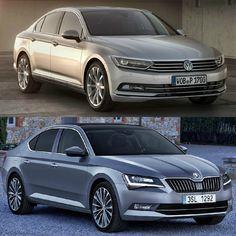 VW Passat vs Skoda Superb