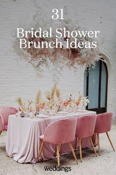 Wedding table pink - Bridal Shower Brunch Ideas That Go Beyond Mimosas – Wedding table pink Bridal Shower Planning, Wedding Planning, Bridal Shower Favors, Bridal Showers, Wedding Chairs, Wedding Table, Wedding Ceremony, Diy Inspiration, Wedding Inspiration
