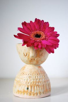 Stella Baggott/AtelierStellaLondon - Little lady ceramic candle holder or vase
