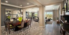 As you enter the Foyer your formal Dining Room welcomes you into the home.