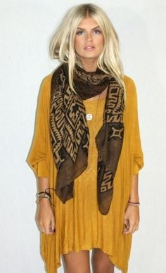 boho drape dress with scarf