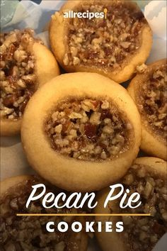 "Pecan Pie Cookies | ""These were absolutely delicious! Just like mini pecan pies."" #cookies #cookierecipes #bakingrecipes #dessertrecipes #cookieideas"