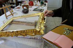 Water Gilding applicazione della foglia oro