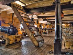 One of the gun decks of HMS Victory