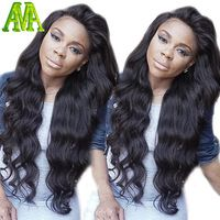 150% Density Lace Front Brazilian Body Wave Wigs Virgin Human Hair Natural Hairline With Baby Hair Bleach Knots For Black Woman