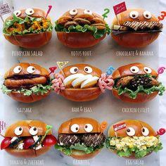 あやさんはInstagramを利用しています:「ロールパンサンド ・ ・ おはようございます😊 ・ ・ 今日は次女の9歳の誕生日🎂 ・ ・ ちょうどピッタリな #3かける3の朝ごパン に番号をつけました😊 ・ ・ ひょうきんな次女にピッタリな朝ごパン😆 ・ ・…」 Japanese Bread, Japanese Food Art, Party Food Platters, Party Dishes, Cute Food, Good Food, Food Art For Kids, Kids Menu, Dessert Decoration