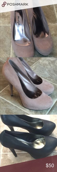 Herstyle platform heels size 11 Patent black, blush faux suede, green faux suede and black faux suede. All 4 for sale. Buy all for one price herstyle Shoes Platforms