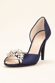 Wonder by Jenny Packham Peep Toe Pump - Marine (Blue), 11 Women's