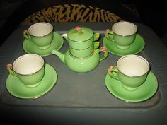 Absolutely charming1930s Royal Winton Grimwades Rosebud Tea Set in by KayCreatives on etsy...