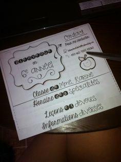 Flip-book pour la rencontre de parents! http://laclassedekarine.blogspot.ca/