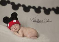 Melissa Calise Photography (Newborn Baby Boy Mickey Mouse Disney Photo Shoot Session Posing Ideas)