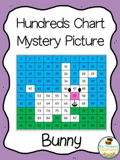 Your students will love discovering the cute bunny picture as they practice place value and recognizing colors and numbers on a hundreds chart!  Use the key to color in the boxes and reveal a hidden picture! Great activity for spring and Easter!    *Comes in 2 versions for differentiation!  -Easier version has the 100s chart filled in  -Harder version is blank, so students fill in the numbers 1-100, then complete the mystery picture.    *************************************************...
