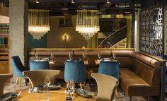 Les plus beaux restaurants deco a Paris : Manko par Laura Gonzalez Manko 15, avenue Montaigne 75008 Paris www.manko-paris.com
