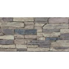 Superior Building Supplies, Rustic Lodge 24 in. x 48 in. x 1-1/4 in. Faux Grand Heritage Stack Stone Panel, HD-COL2448-RL at The Home Depot - Mobile Stacked Stone Panels, Faux Stone Panels, Faux Panels, Fireplace Accent Walls, Brick Wall, Faux Rock Walls, Home Depot, Brick Material, Gray Rock