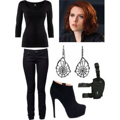 """Black Widow"" by soundofinevitability on Polyvore"
