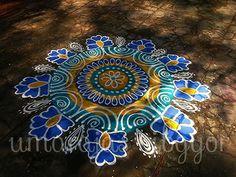 Morning colour kolams,,,