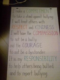 Anti-Bullying Pledge borrowed from http://www.educationworld.com/a_admin/tools/tool036.shtml