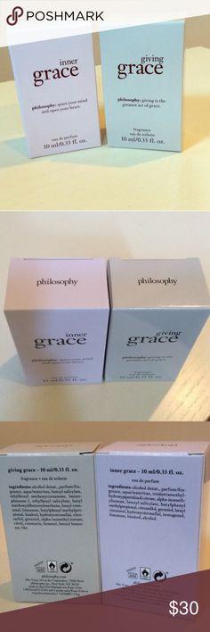 Philosophy Perfume Bundle BNIB Philosophy Perfume Bundle BNIB both giving grace and inner grace! Philosophy Makeup