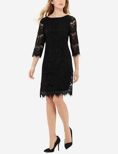 Lace Shift Dress from THELIMITED.com