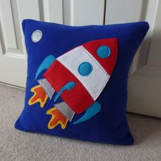 Cojín cohete - Blue Rocket cushion - Almofada foguete