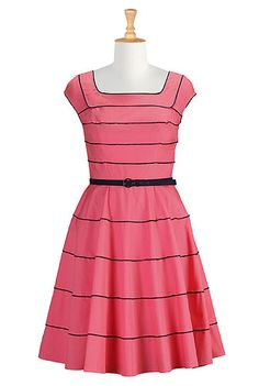 I <3 this Her fifties piped trim dress from eShakti. I have this Cute '50's Style Dress. I love it!1