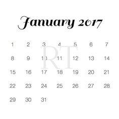 Printable 2017 Calendar by RittenhouseTrades