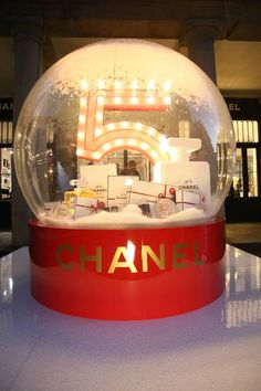 A giant snow globe and free flash makeovers await at Chanel's festive pop-up at Covent Garden.