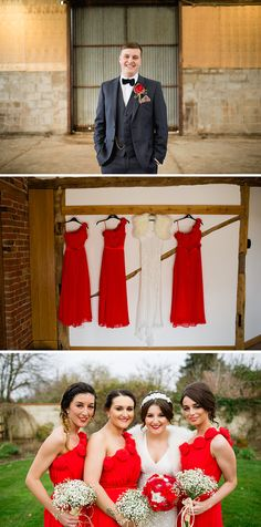 Red wedding decoration inspiration for weddings - A Perfectly Personalised Wedding Day at Curradine Barns - Outfits | CHWV