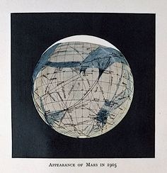 """History of Astronomy on Twitter: """"Appearance of Mars in 1905, in """"Mars as the Abode of Life"""" by Percival Lowell, Century Magazine, 1908 @AdlerPlanet https://t.co/7IU3SBd12I https://t.co/OK6L58tCTs"""""""