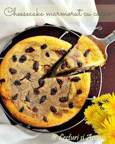 Cheesecake marmorat cu cacao  (pasca fara aluat)