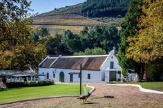 The Dutch colonial architecture at the Morgenhof Estate on the Stellenbosch Wine Routes.