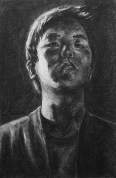 RISD Pre-College Drawing, Chiaroscuro Self Portrait assignment, charcoal, x 2017 Self Portait, Self Portrait Drawing, Pencil Portrait, Drawing Lessons, Drawing Techniques, Drawing Tips, Pencil Drawing Tutorials, Pastel Portraits, Modern Pictures