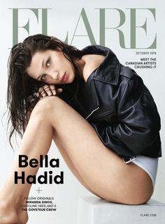 Bella Hadid on FLARE Magazine October 2016 Cover