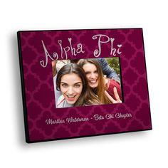 Alpha Phi Quatrefoil Picture Frame GreekGear.com