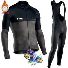 Warm Cycling Jersey Winter Fleece Outdoor Thermal Bike Bicycle Clothing Pant Set