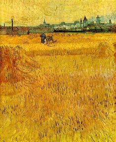 Wheat Field with Sheaves and Arles in the Background), June 1888, Musée Rodin, Paris, France