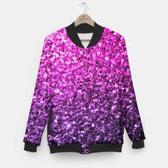 Beautiful Purple Pink Ombre glitter sparkles Baseball Jacket by #PLdesign #sparkles #PinkSparkles #SparklesGift #liveheroes
