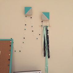 Add some sparkle to your wall hooks!