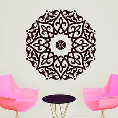 Wall Decals Mandala Indian Pattern Yoga Oum Om Sign Decal Vinyl Sticker Home…