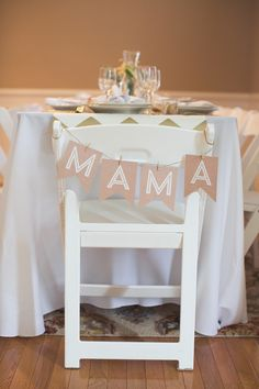 Of course, every mama should have her own designated chair at the baby shower!