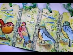 If birds could talk...a mixed media tag booklet by Robyn Wood - YouTube