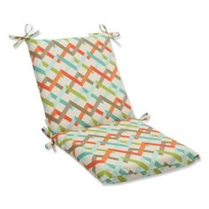 Pillow Perfect Squared Outdoor Parallel Play Caribbean Corners Chair Cushion <3 View the item in details by clicking the image
