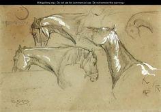 Rosa Bonheur - Studies Of Horses