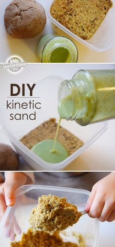 Craft Project Ideas: How to make Kinetic Sand