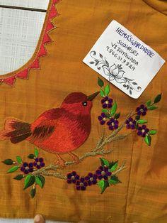Embroidery On Kurtis, Kurti Embroidery Design, Embroidery Neck Designs, Embroidery Fashion, Crewel Embroidery, Wedding Saree Blouse Designs, Best Blouse Designs, Saree Blouse Neck Designs, Magam Work Designs