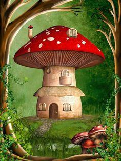 'Mushroom house #gnomes #elves #mushroom